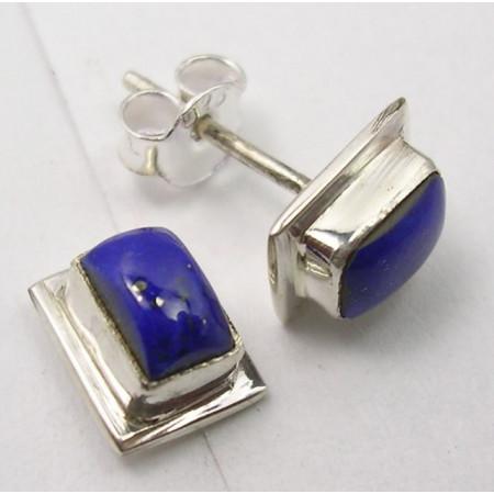 Poze Cercei Argint cu Lapis Lazuli (0,9 cm)