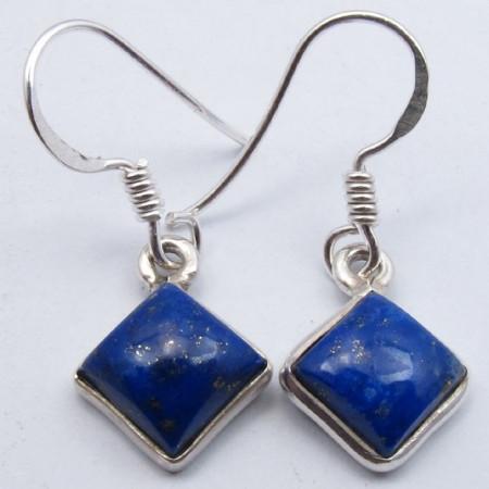 Poze Cercei Argint cu Lapis Lazuli (2,9 cm)