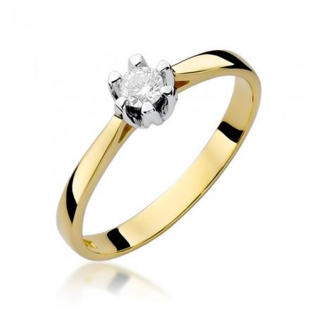 InelAur 14k cu Diamant 0.12 ct