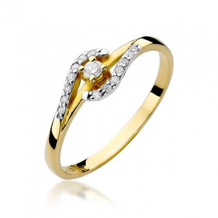 Inel Aur 14K cu Diamant 0.11 ct