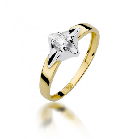 Inel Aur 14k cu Diamant 0.12 ct