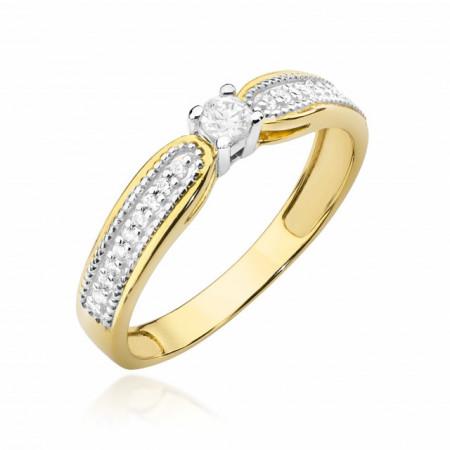 Inel Aur 14k cu Diamant 0.17 ct