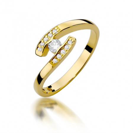 Inel Aur 14k cu Diamant 0.19 ct