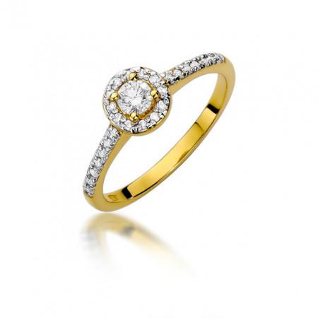 Inel Aur 14k cu Diamant 0,28ct