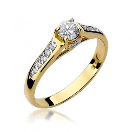 Inel Aur 14K cu Diamant 0.33 ct