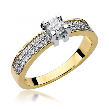 Inel Aur 14k cu Diamant 0,48 ct
