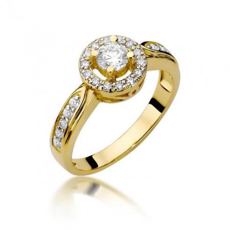 Inel Aur 14k cu Diamant 0.51 ct