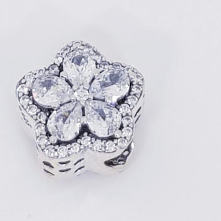 Talisman Argint 925 rodiat Floare Simulated Diamond