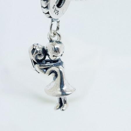 Talisman Argint 925 rodiat Mire si mireasa- Simulated Diamond