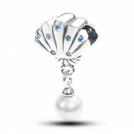 Talisman Argint 925 rodiat Scoica cu perla