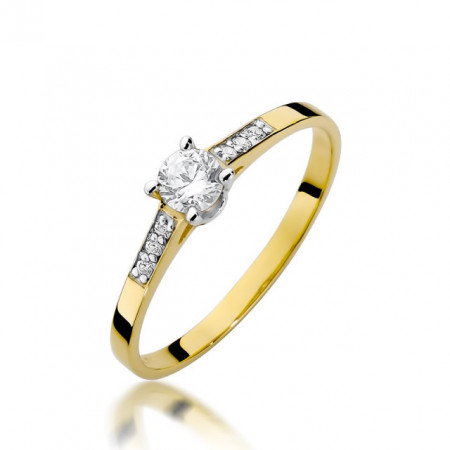 Inel Aur 14k cu Diamant 0.21 ct