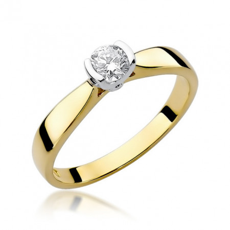 Inel Aur 14K cu Diamant 0.25 ct