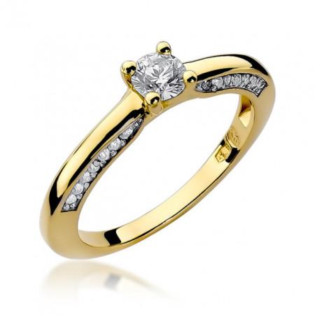 Inel Aur 14K cu Diamant 0,44 ct