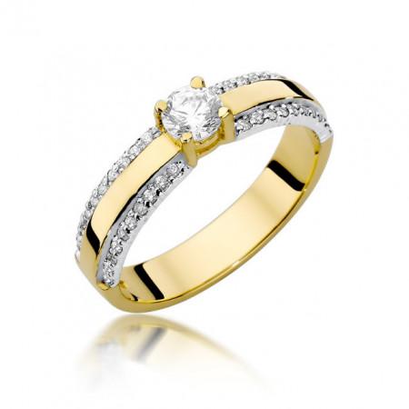 Inel Aur 14k cu Diamant 0.45 ct