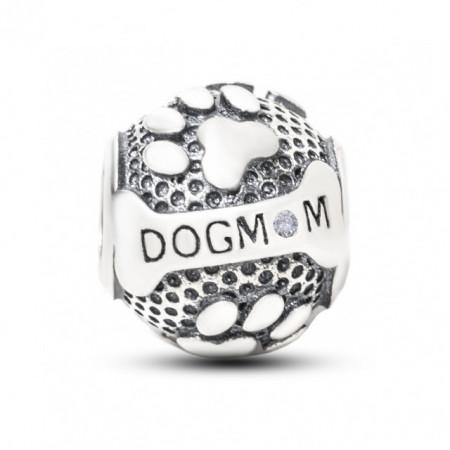 Talisman Argint 925 rodiat Dog Mom
