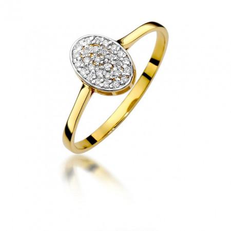 Inel Aur 14k cu Diamant 0.14 ct