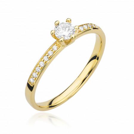 Inel Aur 14k cu Diamant 0.37 ct