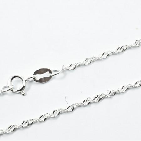 Lant Argint 925 Singapore, 45 cm lungime
