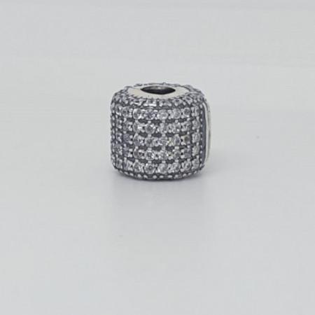 Talisman Argint 925 rodiat Butoias si zirconiu-Simulated Diamond