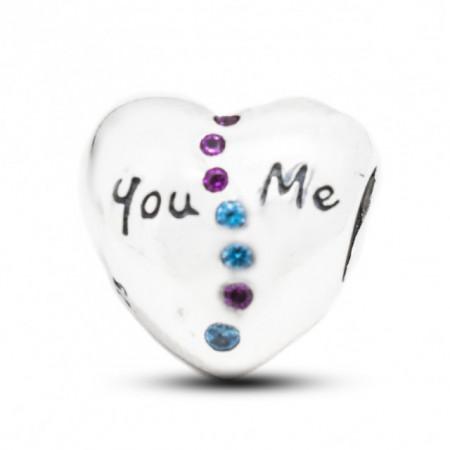 Talisman Argint 925 rodiat You&Me