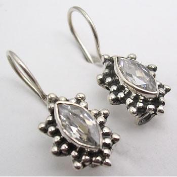 Cercei Argint 925 cu Zirconiu Cubic, 2.3 cm lungime