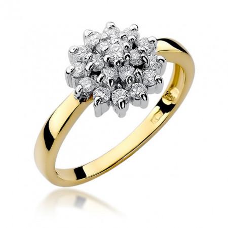 Inel Aur 14 k cu Diamant 0.40 ct