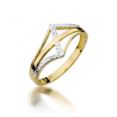 Inel Aur 14k cu Diamant 0.03 ct