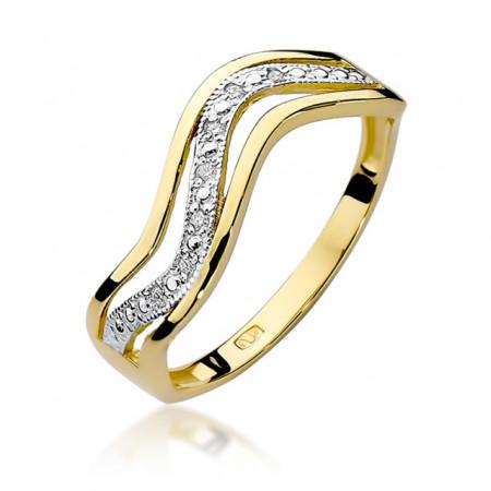 Inel Aur 14k cu Diamant 0.06 ct
