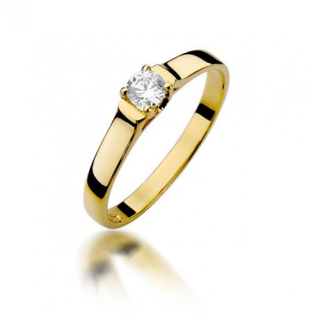 Inel Aur 14k cu Diamant 0.18 ct