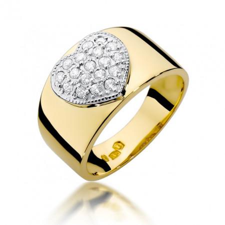 Inel Aur 14k cu Diamant 0.26 ct