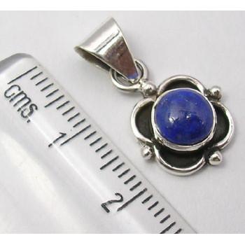 Pandantiv Argint 925 cu Lapis Lazuli, 2.3 cm lungime