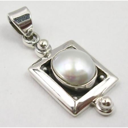 Poze Pandantiv din Argint cu Perla FreshWater 3,3 cm