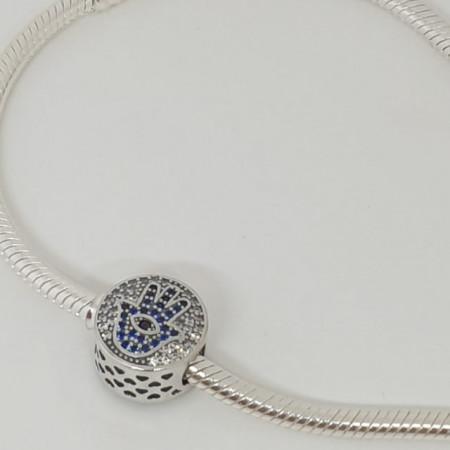 Talisman Argint 925 rodiat Palma Fatma Simulated Diamond