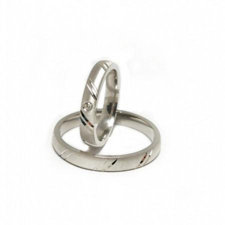 Verighete din Argint 925 rodiat si zirconiu-Simulated Diamond- Cod: AT2475