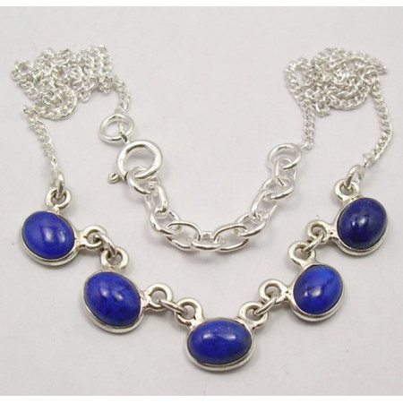 Poze Colier din Argint cu Lapis Lazuli