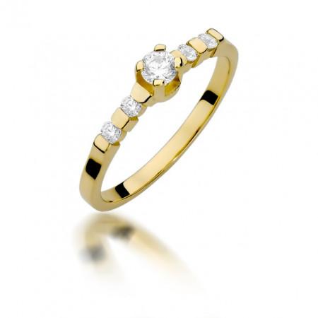 Inel Aur 14k cu Diamant 0.35 ct