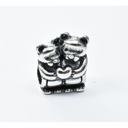 Talisman Argint 925 rodiat Bear family