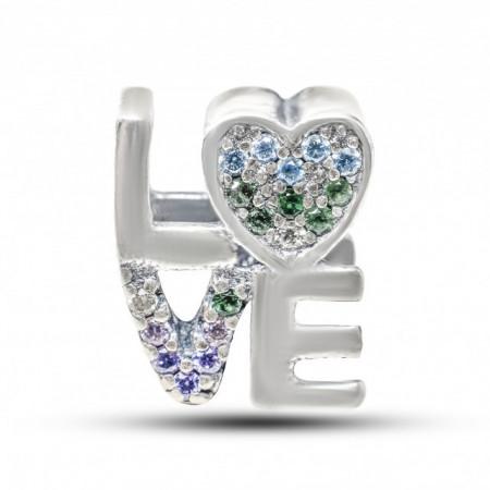 Talisman Argint 925 rodiat Love