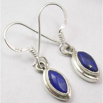 Poze Cercei Argint cu Lapis Lazuli (2,8 cm)