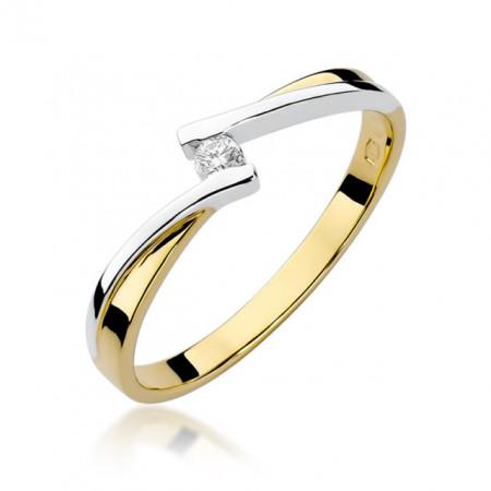 Inel Aur 14k cu Diamant 0.04 ct