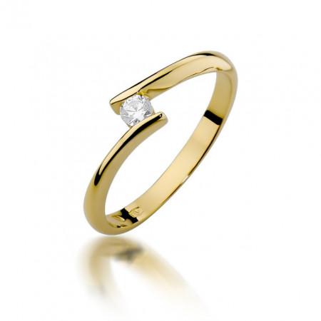 Inel Aur 14k cu Diamant 0.09 ct