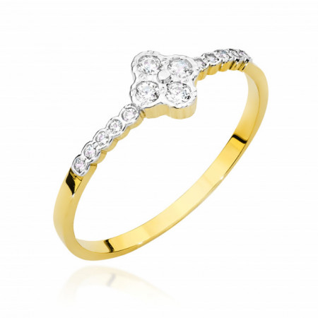 Inel Aur 14k cu Diamant 0.13 ct
