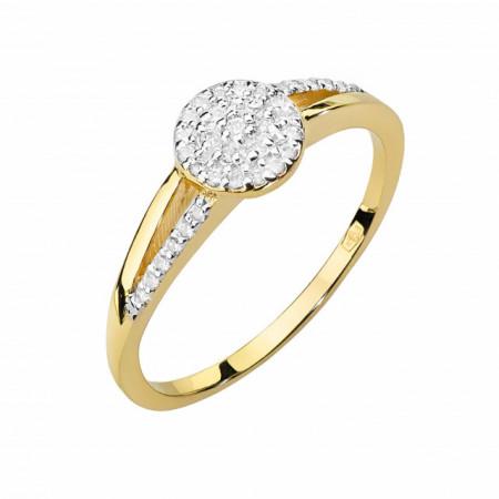 Inel Aur 14k cu Diamant 0.18ct