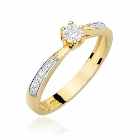 Inel Aur 14k cu Diamant 0.20 ct