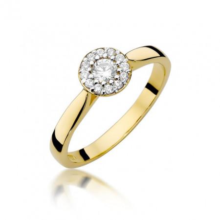 Inel Aur 14k cu Diamant 0.22 ct