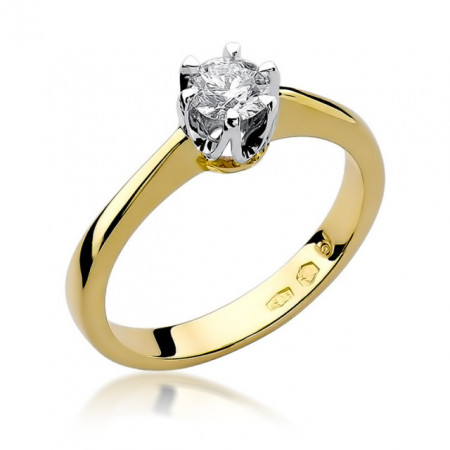 Inel Aur 14K cu Diamant 0.30 ct
