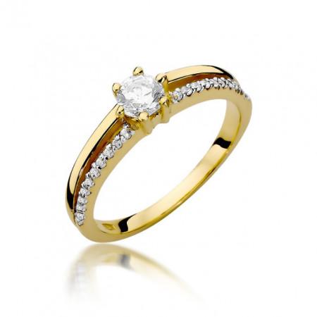Inel Aur 14k cu Diamant 0.40 ct