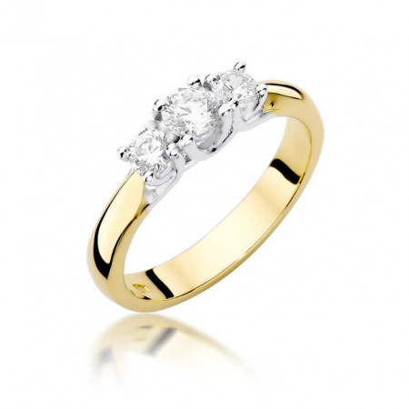 Inel Aur 14k cu Diamant 0.49 ct