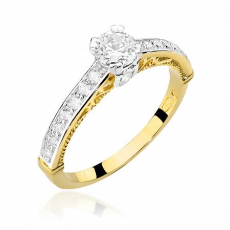 Inel Aur 14k cu Diamant 0.56 ct