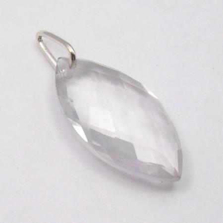 Pandantiv Argint 925 cu Cristal 2.8 cm lungime